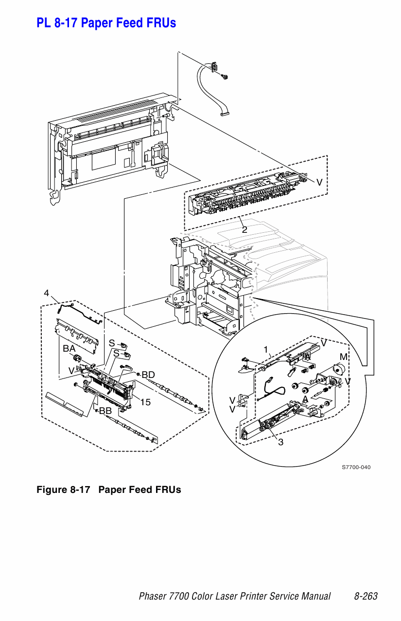 xerox phaser 7700 parts list and service manual